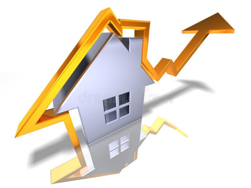 Crescer dos bens imobiliários ilustração stock