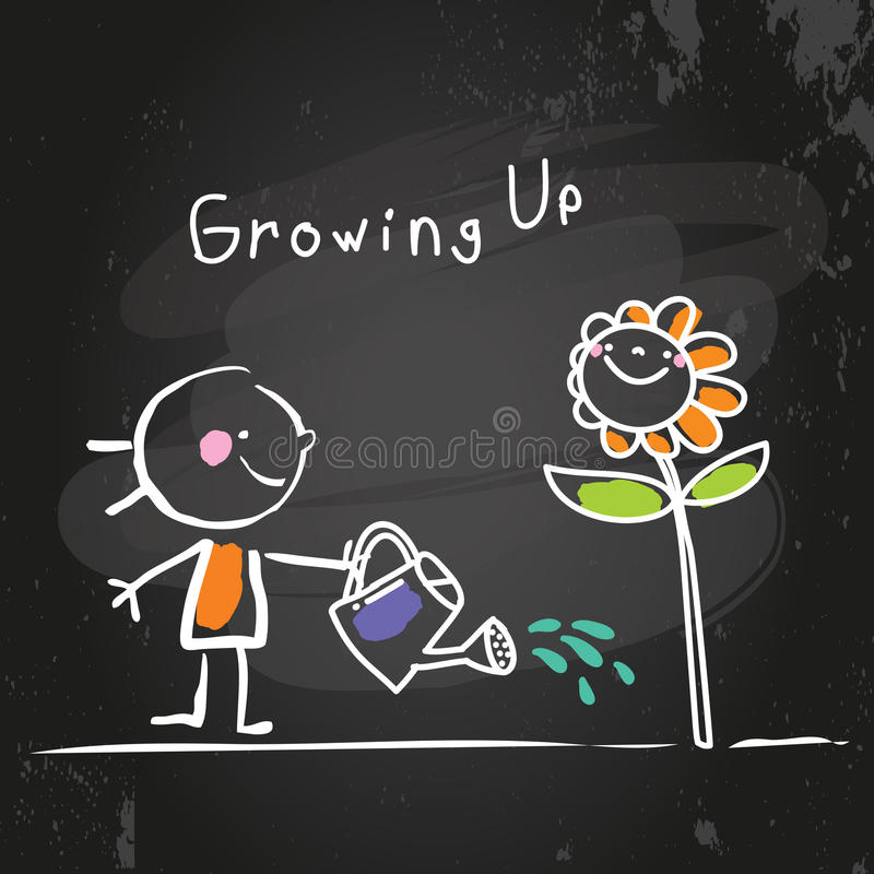 Crescere illustrazione vettoriale