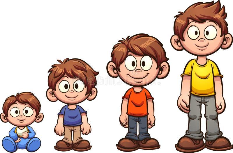 Crescere del ragazzo illustrazione di stock