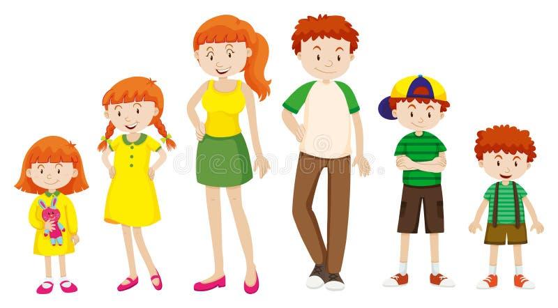 Crescere della ragazza e del ragazzo illustrazione vettoriale