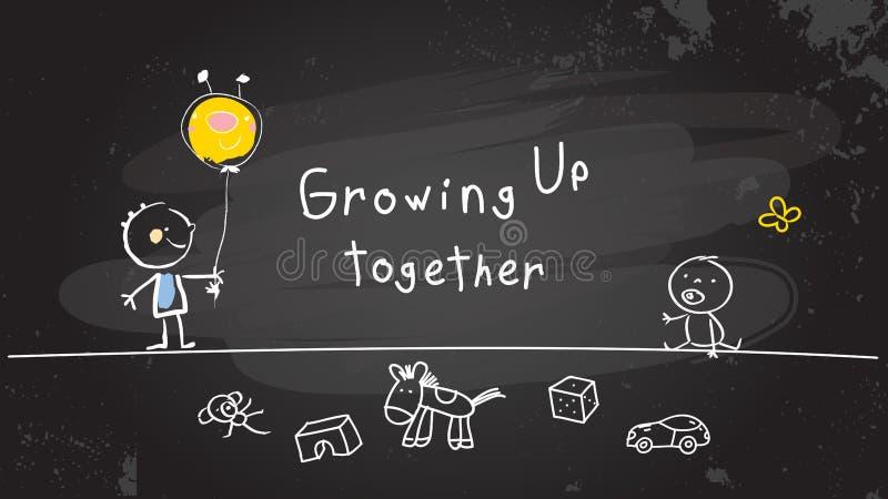 Crescere insieme illustrazione vettoriale