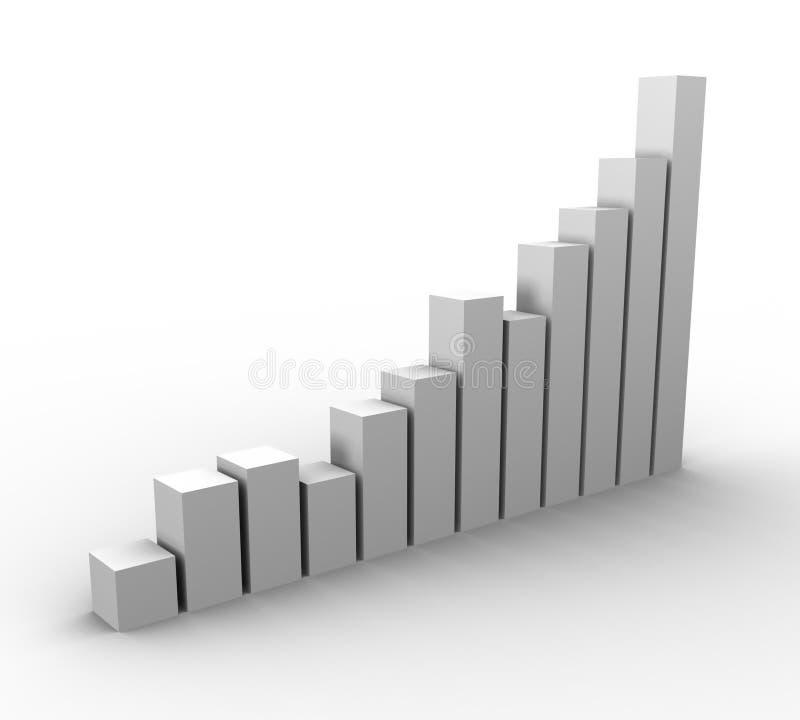 Crescimento 02 do gráfico ilustração stock