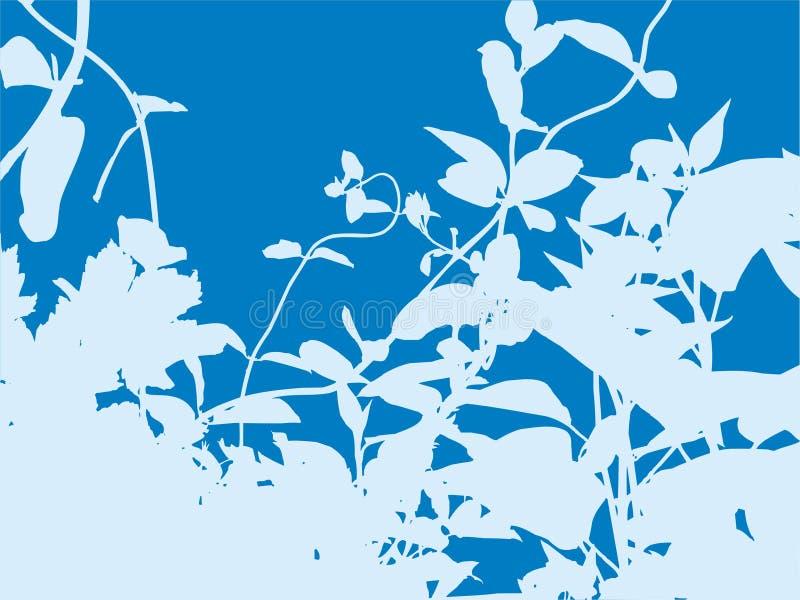 Crescimento azul ilustração royalty free