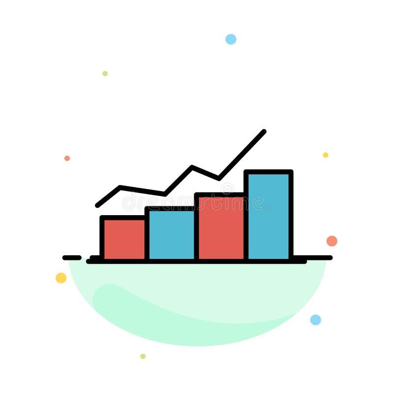 Crescimento, carta, fluxograma, gráfico, aumento, molde liso do ícone da cor do sumário do progresso ilustração stock
