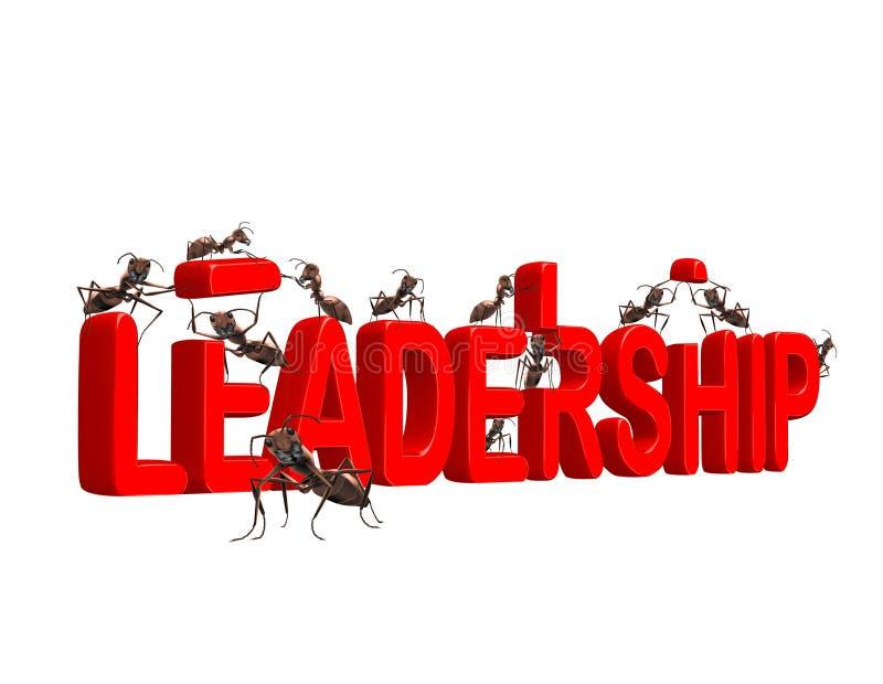 Crescimento da liderança do edifício ao lider do mercado ilustração do vetor