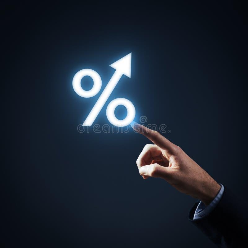 Crescimento da porcentagem imagem de stock royalty free