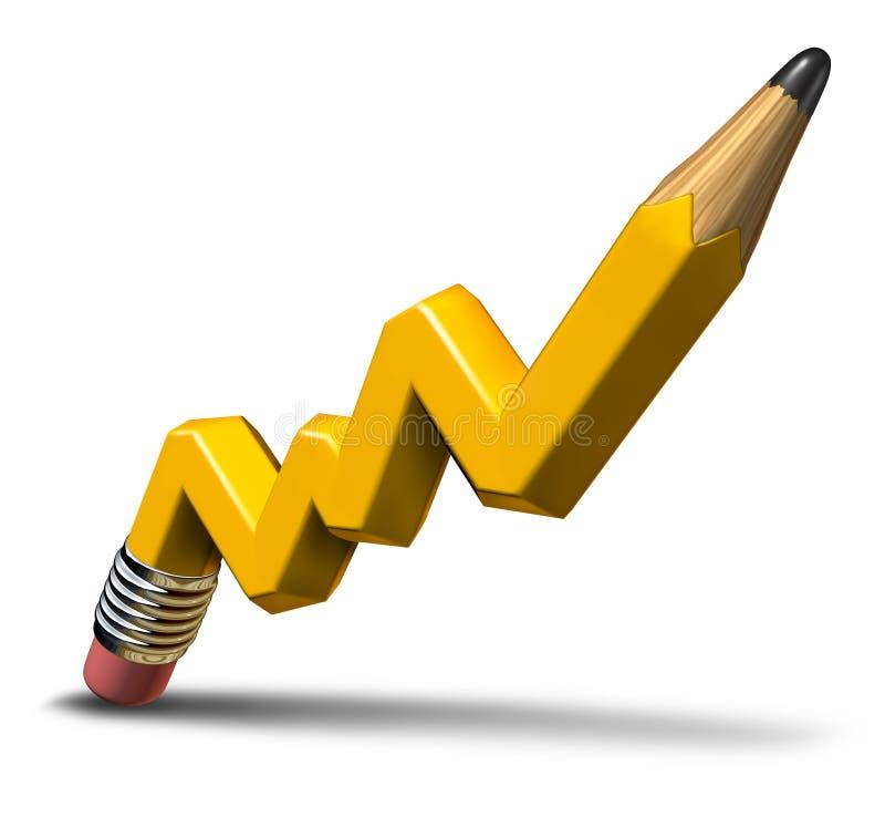 Crescimento de lucro do planeamento ilustração royalty free