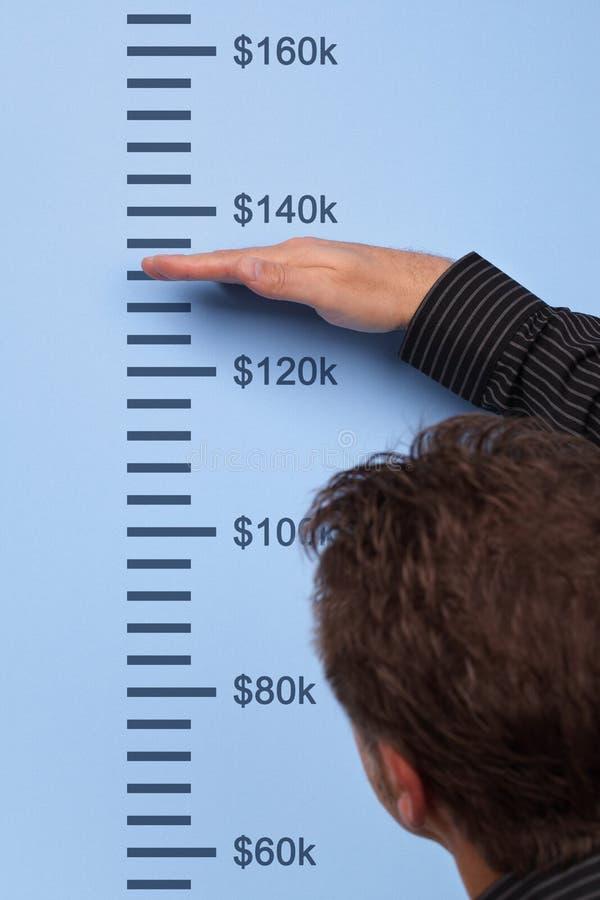 Crescimento de medição imagens de stock