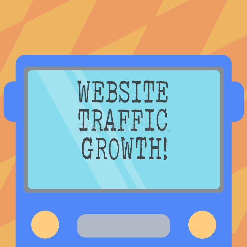 Crescimento de tráfego do Web site da exibição do sinal do texto Métrica conceptual do mercado da foto que mede visitantes de Fro ilustração royalty free
