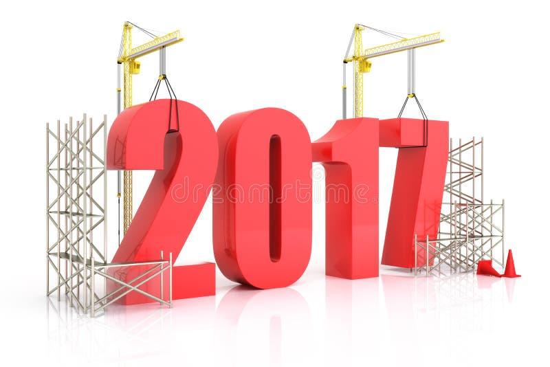 Crescimento 2017 do ano ilustração royalty free