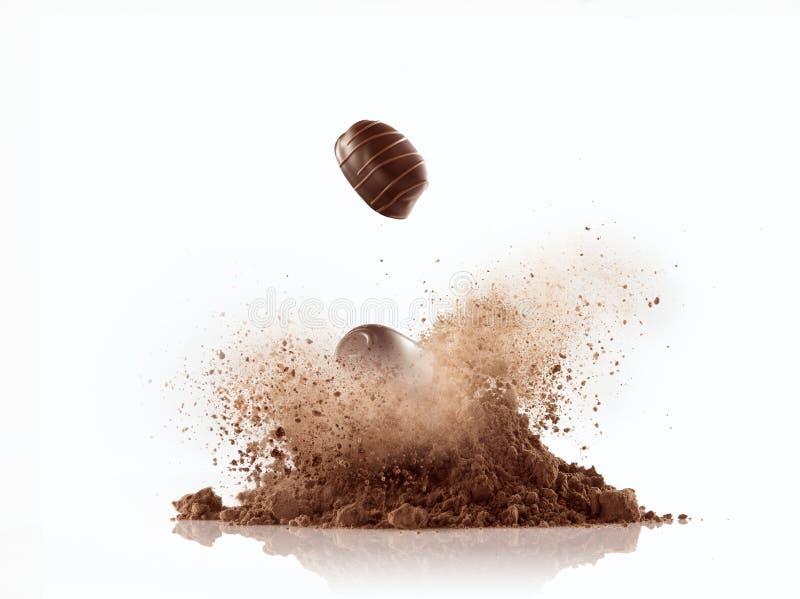 Crescimento do chocolate foto de stock