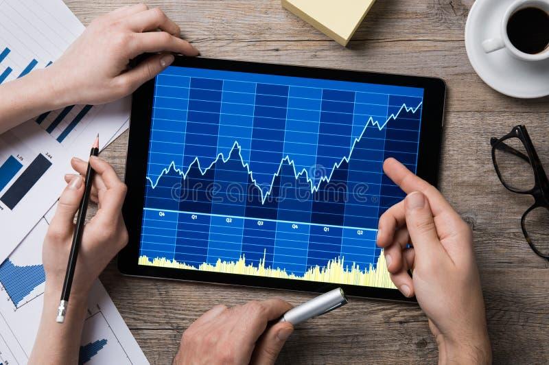 Crescimento do mercado de valores de ação fotos de stock