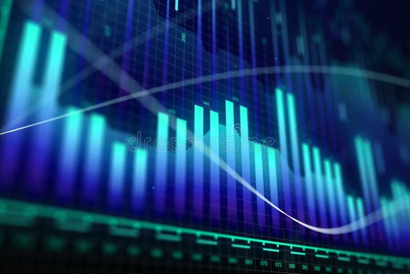Crescimento do mercado, finança e conceito do dinheiro ilustração do vetor