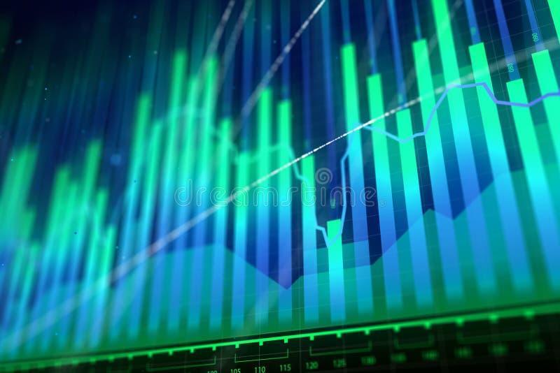 Crescimento do mercado, finança e conceito do estoque ilustração stock