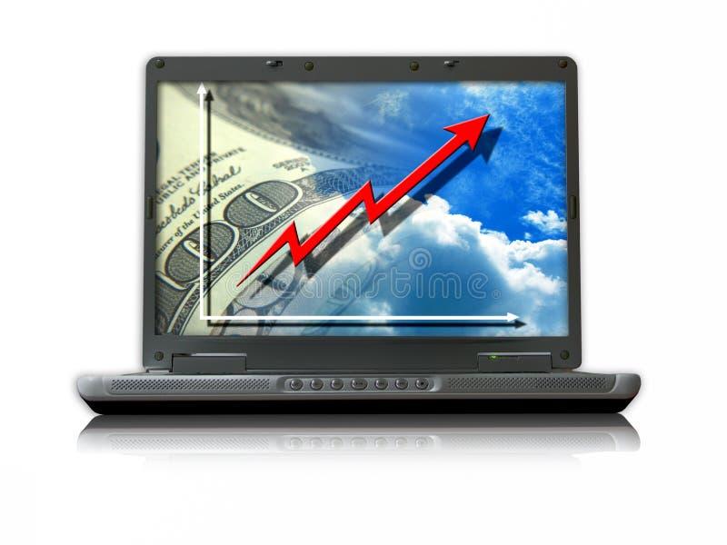 Crescimento do negócio do Internet foto de stock royalty free
