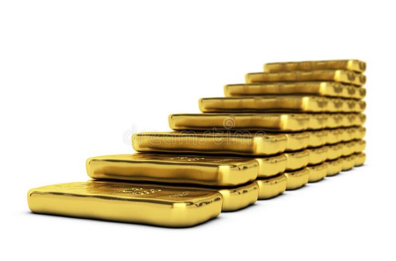 Crescimento do valor de ouro ilustração do vetor