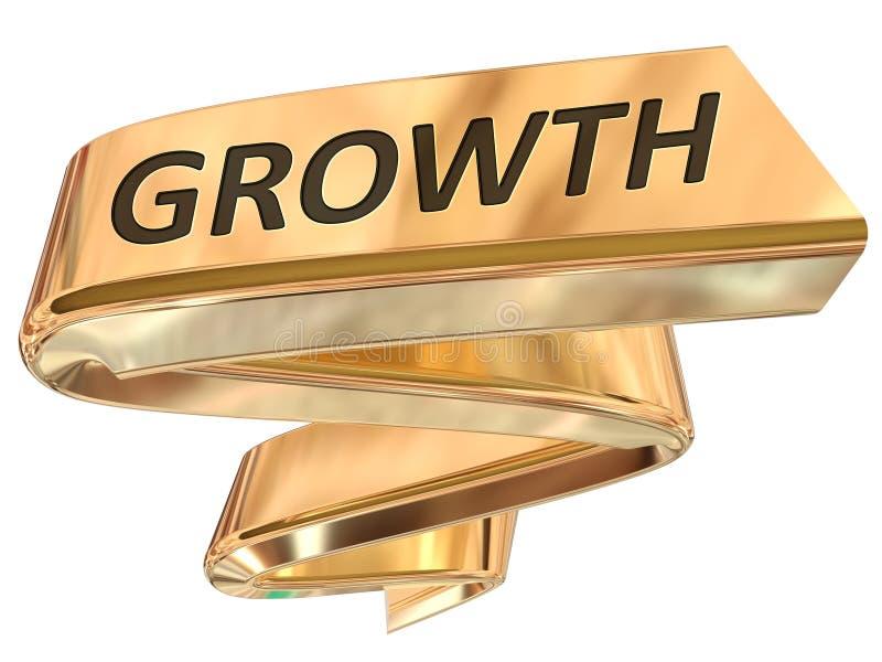 Crescimento dourado da bandeira ilustração do vetor
