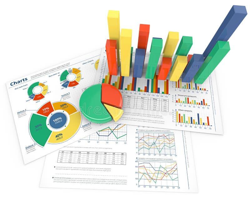 Crescimento e desempenho do negócio ilustração do vetor