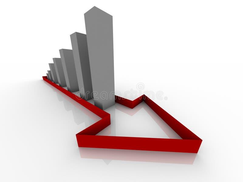 Crescimento e desenvolvimento do negócio ilustração royalty free