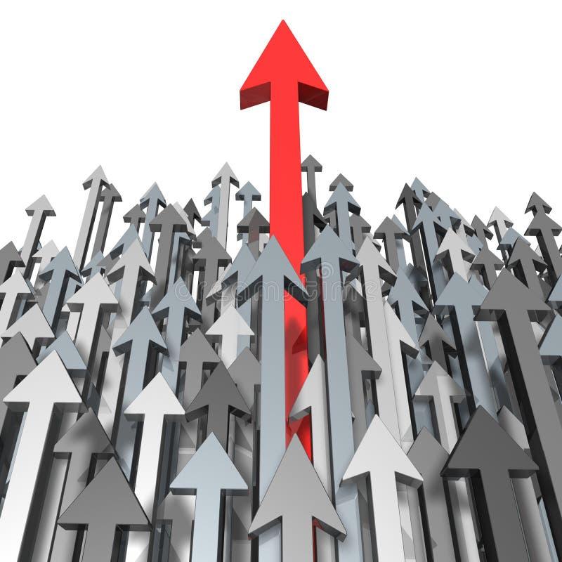 Crescimento e sucesso ilustração stock