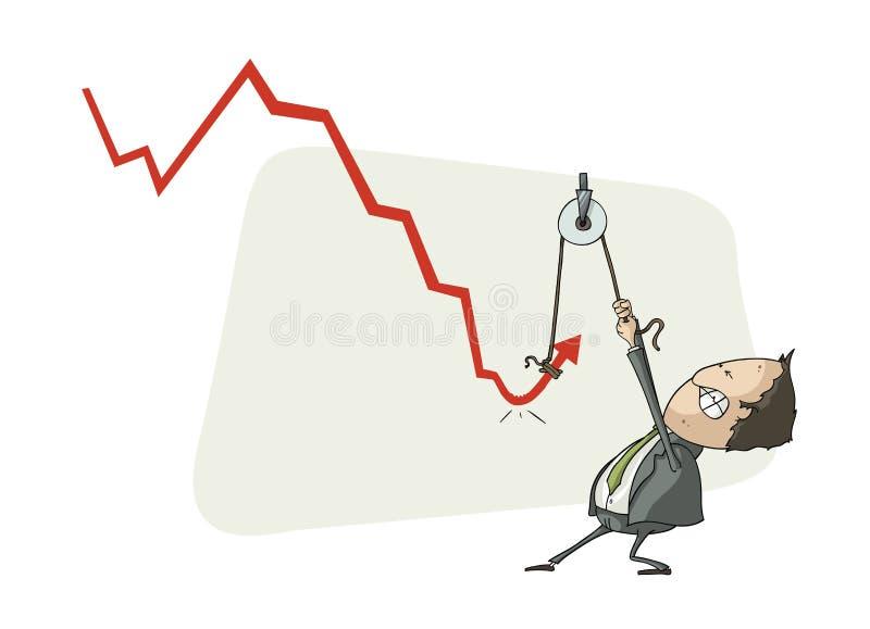 Crescimento econômico da repercussão ilustração stock