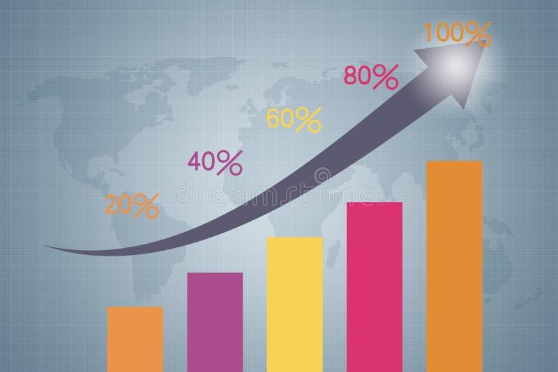 Crescimento econômico rápido e melhoramento ilustração do vetor