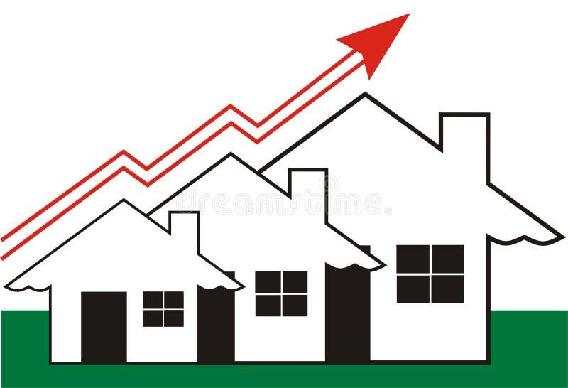 Crescimento em bens imobiliários ilustração do vetor