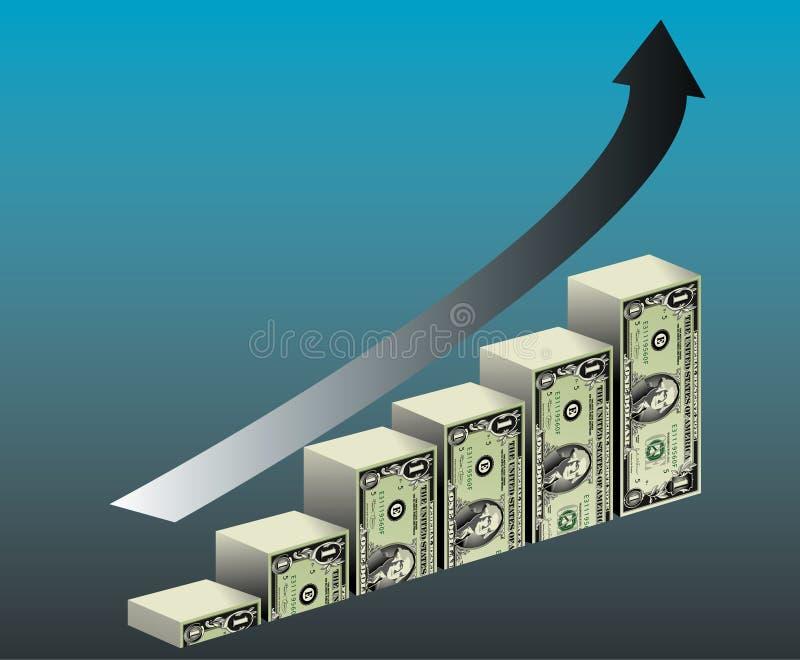 Crescimento financeiro ilustração stock