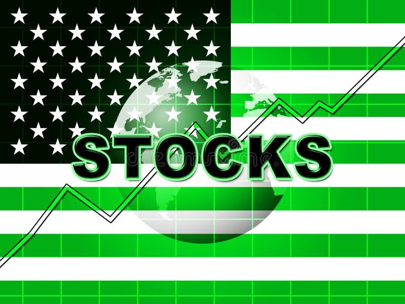 Crescimento global dos fundos do mercado de valores de ação do trunfo e investimento financeiro - 2d ilustração ilustração do vetor