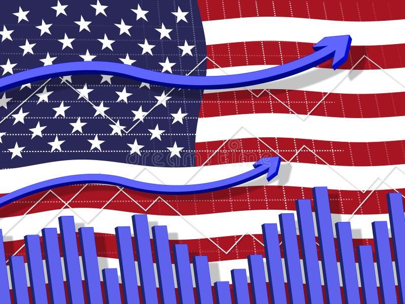 Crescimento global dos fundos do mercado de valores de ação do trunfo e investimento financeiro - ilustração 3d ilustração do vetor