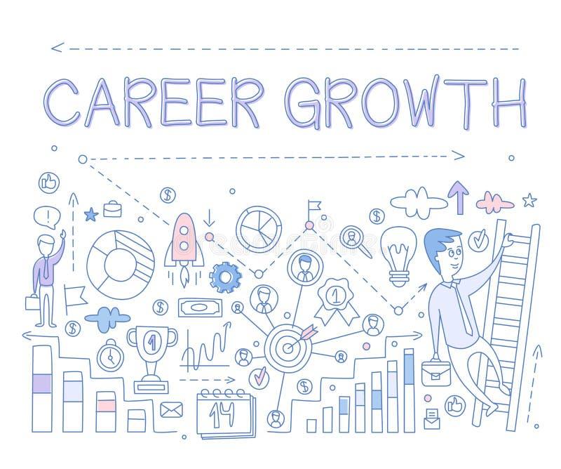 Crescimento Infographics da carreira Ilustração do vetor ilustração royalty free