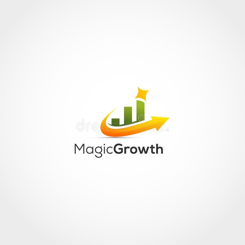 Crescimento Logo Design ilustração do vetor