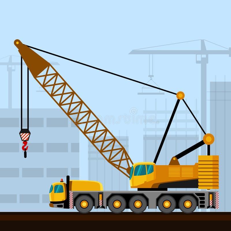 Crescimento montado caminhão da estrutura ilustração royalty free