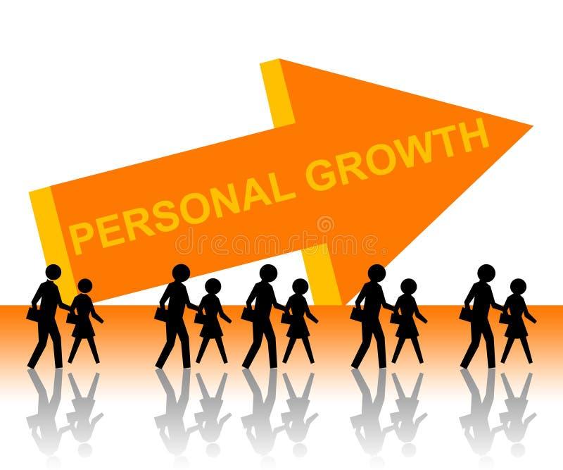 Crescimento pessoal ilustração royalty free