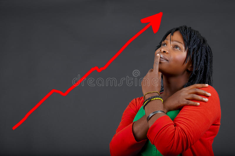 Crescimento pessoal da mulher africana imagem de stock royalty free