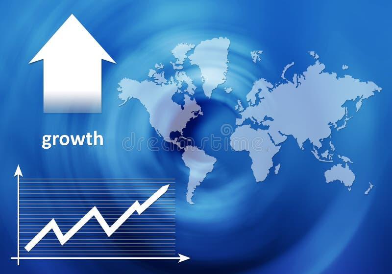 Crescimento - poster da operação bancária ilustração do vetor