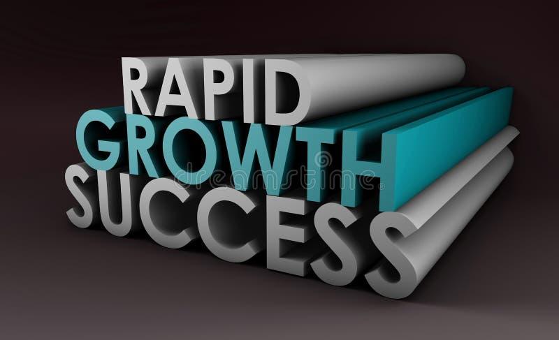 Crescimento rápido ilustração royalty free