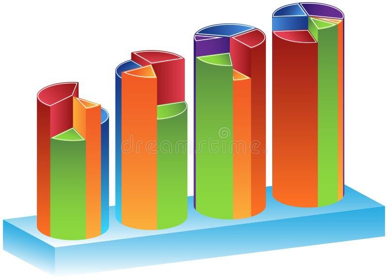 Crescimento trimestral 2 ilustração do vetor