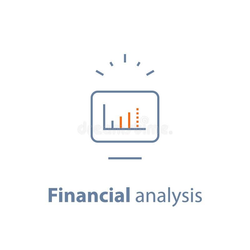 Crescita capitale, tasso di interesse, aumento del reddito, investimento a lungo termine, analisi finanziaria illustrazione di stock