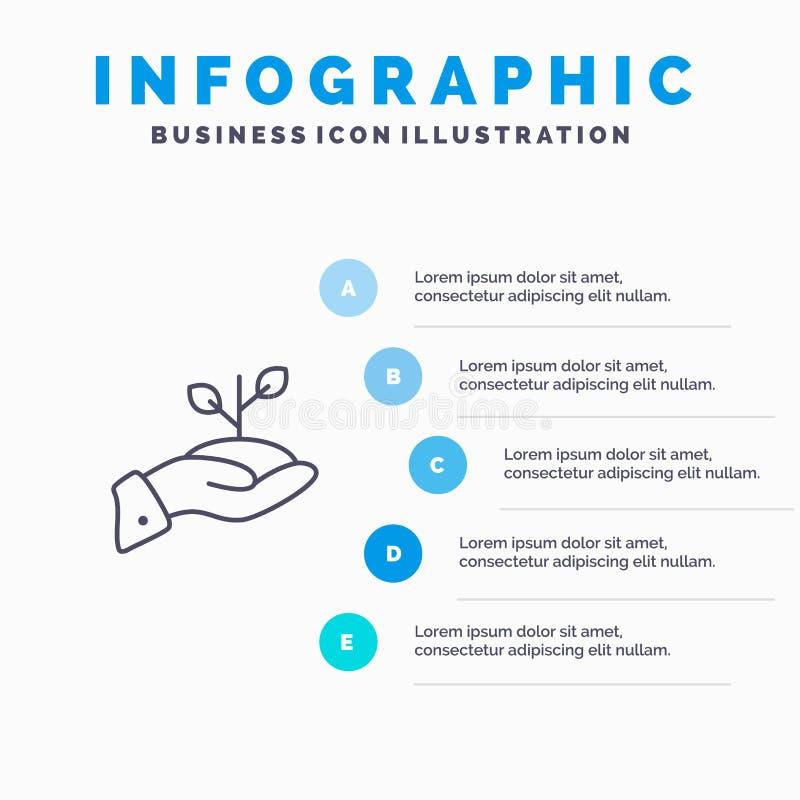 Crescita, carità, donazione, finanza, prestito, soldi, linea icona di pagamento con il fondo di infographics di presentazione di  illustrazione vettoriale