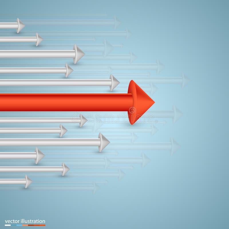 Crescita di affari delle frecce illustrazione di stock