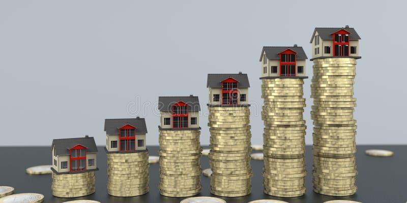 Crescita di investimento dei fondi Real Estate illustrazione di stock