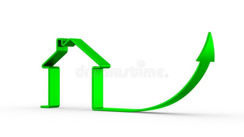 Crescita di prezzi del bene immobile illustrazione di stock