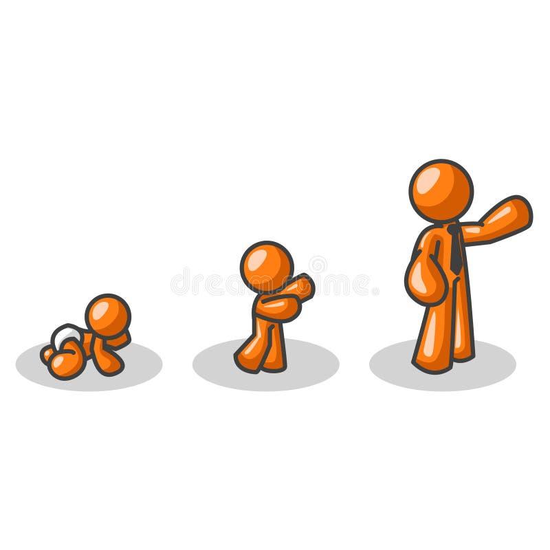Download Crescita in su illustrazione vettoriale. Illustrazione di camminata - 3136656
