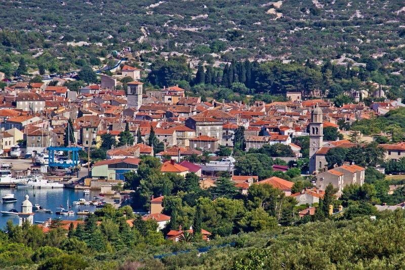 crescroatia mediterannean town arkivfoton