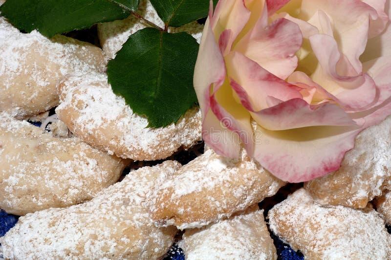 Download Cresent Cookies stock image. Image of dessert, green, celebration - 418995