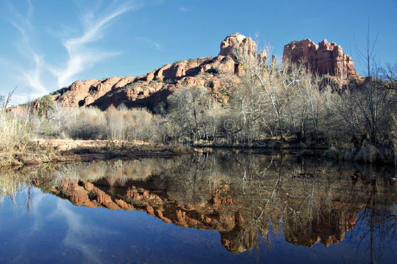 cresent sedona ΗΠΑ βράχου φεγγαριών AZ στοκ εικόνα