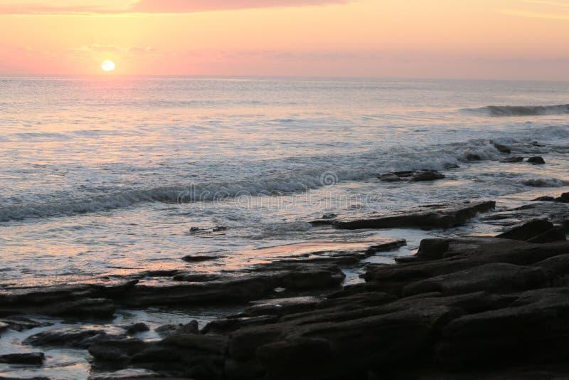 Cresent-Strand, Florida-Sonnenaufgang stockbild