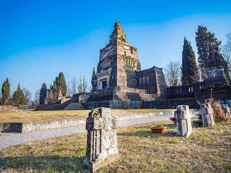 Crespi d`Adda cemetery Bergamo IT industrial village, Unesco WHS stock photography