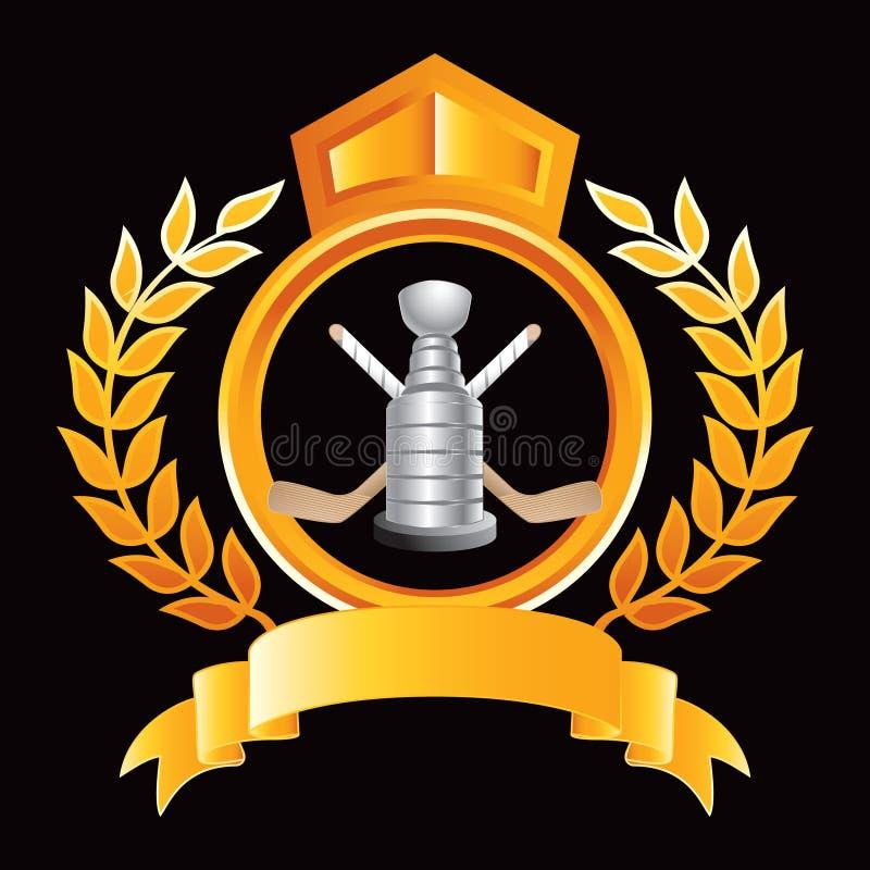 crest трофей ручек хоккея померанцовый королевский бесплатная иллюстрация